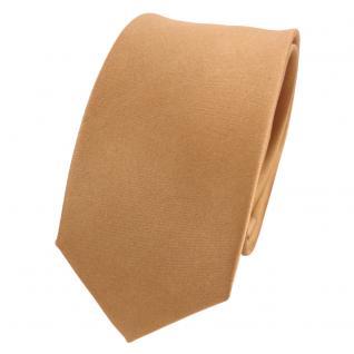 Schmale TigerTie Designer Satin Seidenkrawatte gold Uni - Krawatte Seide Silk