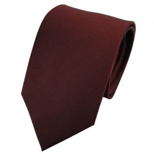 TigerTie Satin Seidenkrawatte braun rotbraun kupfer einfarbig - Krawatte Seide
