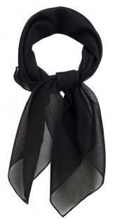 TigerTie Damen Chiffon Nickituch in schwarz einfarbig Uni - Größe 58 cm x 58 cm