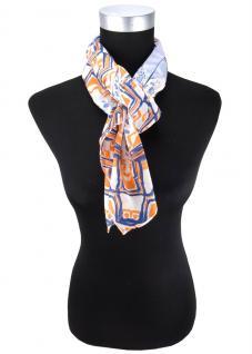 Halstuch in orange blau marine hellblau grau gemustert - Tuch Größe 95 x 95 cm