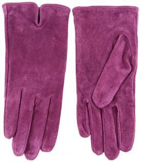 Damen Lederhandschuhe - hochwertiges weiches Schafsleder in violett - Gr. 7 - Vorschau 2