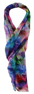 TigerTie Chiffon Schal in rosa blau türkis lila grün rot gelb grau gemustert