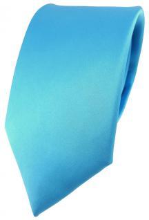 feine Designer Satin Seidenkrawatte in türkis Uni - Krawatte zu 100% aus Seide