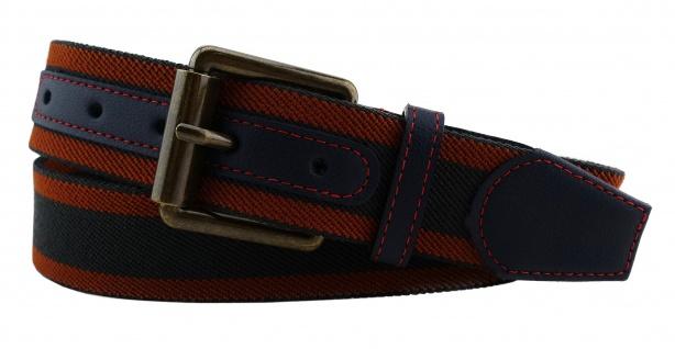 TigerTie - Stretchgürtel in braun rotbraun schwarz gestreift - Bundweite 120 cm