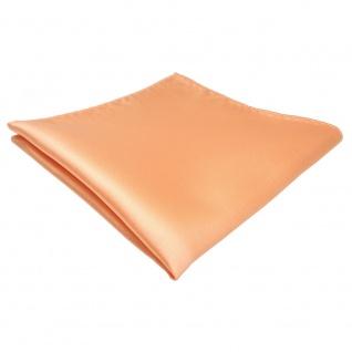 TigerTie Einstecktuch in lachs orange einfarbig - Tuch Polyester