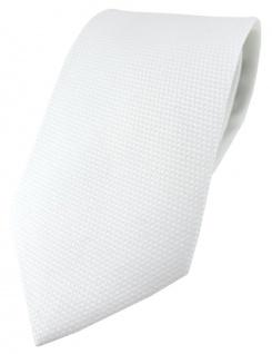 TigerTie Designer Krawatte Pique in weiss gemustert - 100% Baumwolle