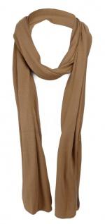 Schal in braun uni einfarbig - Schalgröße 180 x 40 cm