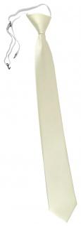 XXL TigerTie Security Sicherheits Krawatte in beige champagner einfarbig Uni