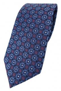XXL TigerTie Krawatte in marine blau silber rot schwarz gemustert - 175 x 8, 5 cm
