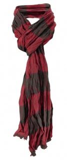 Raffschal bordeaux schwarz kariert mit kleinen Fransen - Schal Gr. 180 x 50 cm
