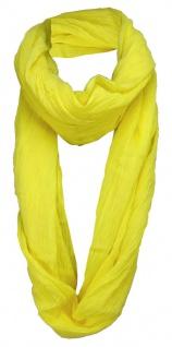 gecrashter TigerTie Loop Schal in gelb zitronengelb Uni - Gr. 170 x 90 cm