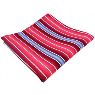 TigerTie Einstecktuch in rot bordeaux rosé blau creme gestreift