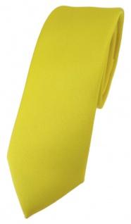 schmale TigerTie Designer Krawatte in gelb einfarbig Uni - Tie Schlips