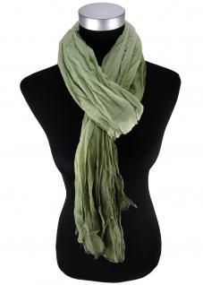 Raffschal in hellgrün dunkelgrün verlauf - Schal Größe 190 x 100 cm