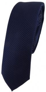 Modische schmale TigerTie Designer Krawatte in marine dunkelblau fein gestreift