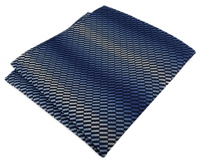 TigerTie Einstecktuch in blau dunkelblau marine royal silber grau gemustert