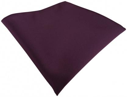 TigerTie Satin Einstecktuch in bordeauxviolett einfarbig Uni - Größe 26 x 26 cm