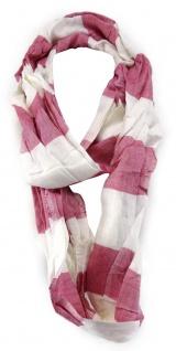 TigerTie Loop Schal in rosa weiss gestreift - Gr. 180 cm x 50 cm