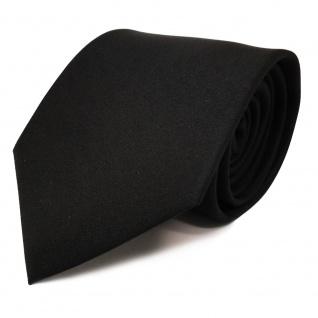 schöne feine TigerTie Designer Krawatte in schwarz Uni - Schlips Binder Tie