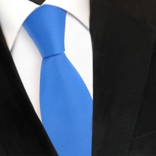 TigerTie Designer Krawatte blau himmelblau hellblau Uni Rips - Binder Tie - Vorschau 3