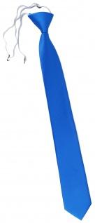 TigerTie Sicherheits Krawatte in blau himmelblau hellblau einfarbig Uni Rips