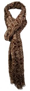 TigerTie Designer Schal in dunkelbraun beige gemustert
