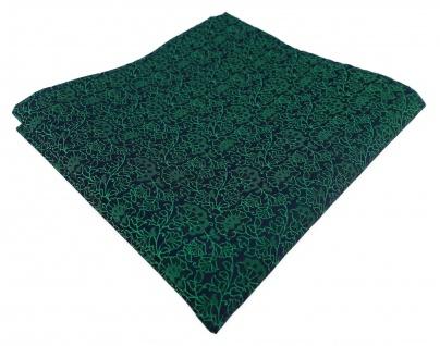 TigerTie Designer Einstecktuch in grün schwarz florales Muster