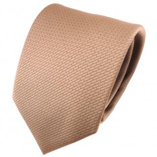 TigerTie Designer Krawatte goldbraun bronze uni gemustert - Tie Binder