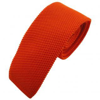 TigerTie - schmale Strickkrawatte orange reinorange einfarbig uni