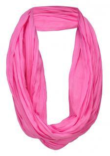 TigerTie Loop Schal in rosa pink einfarbig Uni - Schlauchschal Rundschal