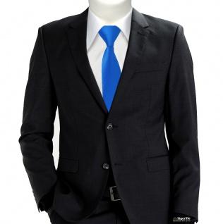 TigerTie Sicherheits Krawatte in blau himmelblau hellblau einfarbig Uni Rips - Vorschau 2