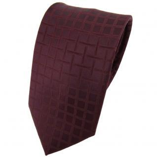 Designer Seidenkrawatte braun bordeauxbraun kariert - Krawatte Seide Binder