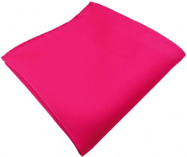 TigerTie Einstecktuch pink knallpink leuchtpink einfarbig Uni - Größe 26 x 26 cm