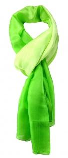 TigerTie Damen Seidenschal in grün einfarbig mit Farbverlauf - Gr. 160 x 90 cm