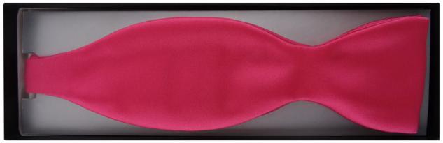 TigerTie Satin Selbstbinder Fliege in pink knallpink Uni einfarbig + Geschenkbox - Vorschau 2