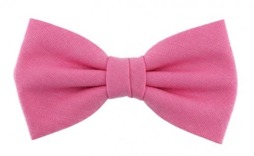 TigerTie - Jungenfliege rosa pink Uni - Gr. 29 bis 50 cm Halsumfang verstellbar