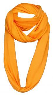 TigerTie Loop Schal in orange einfarbig Uni - Gr. 180 x 40 cm - Rundschal