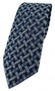 TigerTie Designer Krawatte in mint blau schwarz - Motiv Flechtmuster