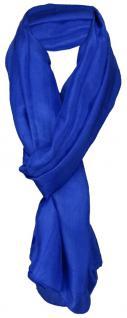 Damen TigerTie Seidenschal blau royal einfarbig - Schal Gr. 180 x 50 cm - Vorschau