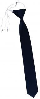 TigerTie Sicherheits Krawatte in blau dunkelblau marine einfarbig Uni Rips