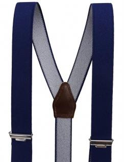 schmaler Hosenträger marine dunkelblau Uni mit Clip - verstellbar 75 bis 120 cm - Vorschau 4