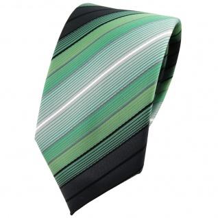 Schmale TigerTie Krawatte in mint grün anthrazit schwarz silber gestreift