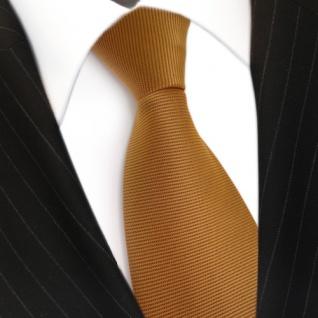 Designer Krawatte orange gold rotorange quer gestreift - Schlips Binder Tie - Vorschau 3