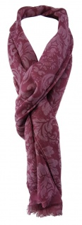 TigerTie Schal in violett rosa gemustert mit Fransen - Gr. 180 x 50 cm