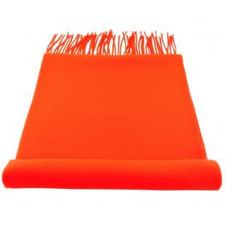 Feiner TigerTie Designer Schal in orange neonorange leuchtorange Uni - Cashmink