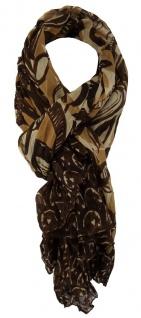 TigerTie Designer Schal in braun dunkelbraun gemustert