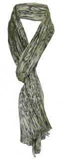 170 x 50 cm gecrashter TigerTie Schal rosa schwarz Silberfaden Tierfellmuster