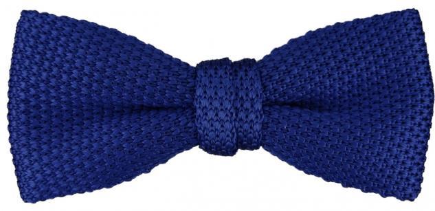 TigerTie Strick Seidenfliege in royal blau einfarbig Uni - Fliege 100% Seide
