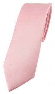 schmale TigerTie Designer Krawatte in rosa einfarbig Uni - Tie Schlips