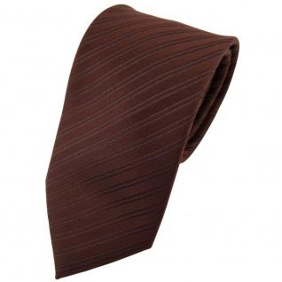 Designer Seidenkrawatte braun dunkelbraun gestreift - Krawatte Seide Binder